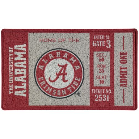 Alabama Crimson Tide Turf Mat - No Size Turf Home Plate Mat