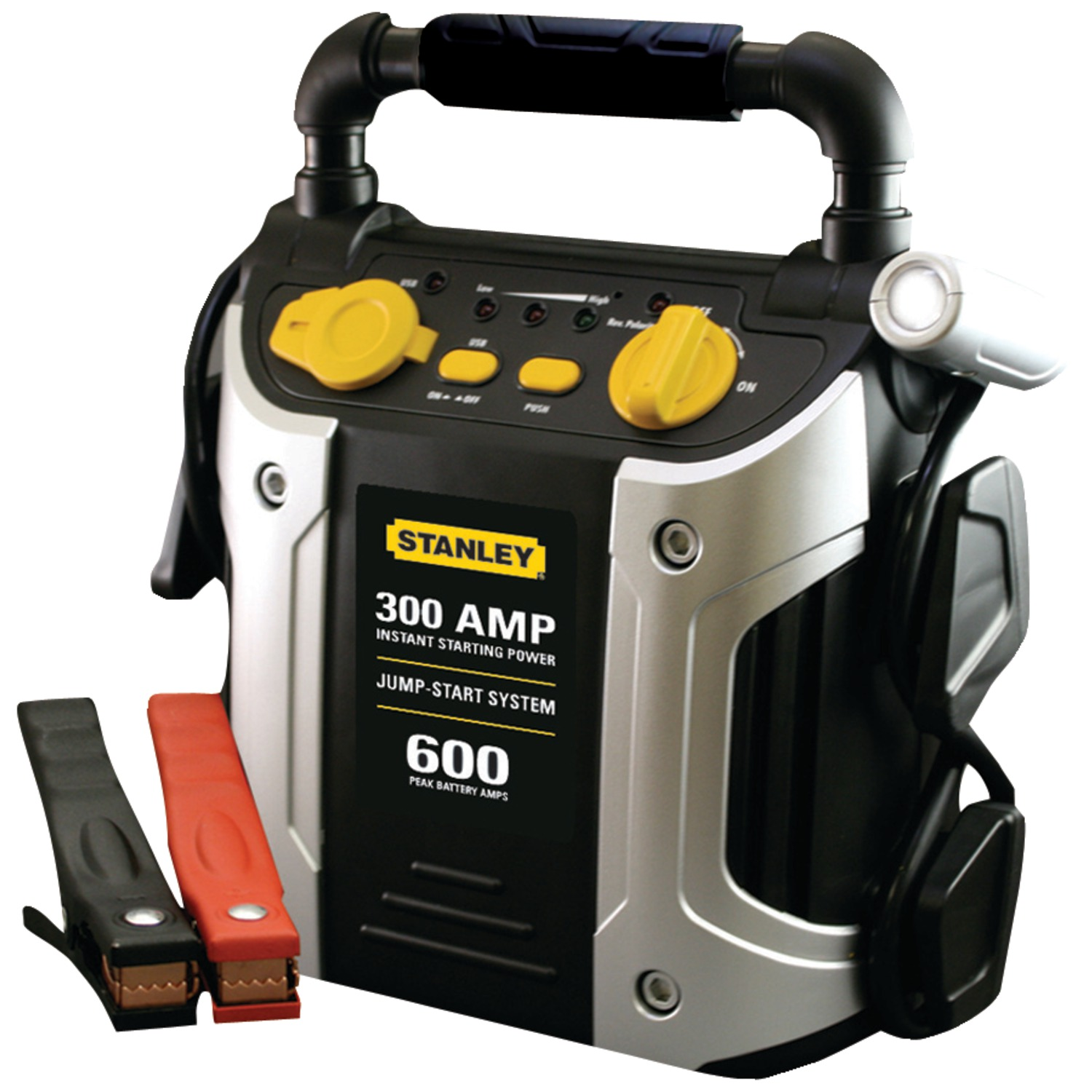 Stanley J309 Jump Starter Peak 600 Amp with LED Light and USB and 12V Ports