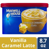Maxwell House International Vanilla Caramel Latte, 8.7 oz Canister