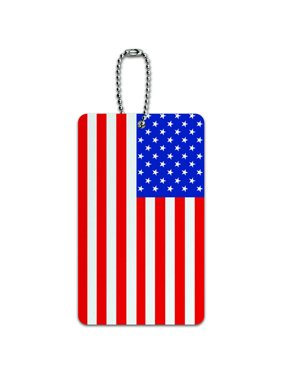 USA American Flag ID Tag Luggage Card for Suitcase or Carry-On