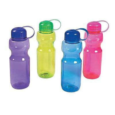 IN-13758331 Colorful Contoured Plastic Water Bottles Per Dozen