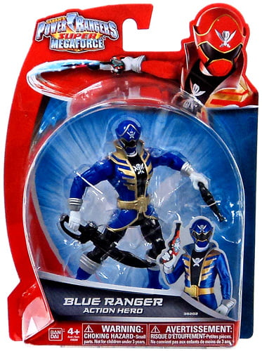 Power Rangers Super Megaforce Blue Ranger Action Hero Action Figure by