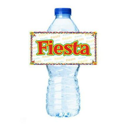 Fiesta Party Decorations 15ct Water Bottle Sticker Labels](Water Bottle Label Size)