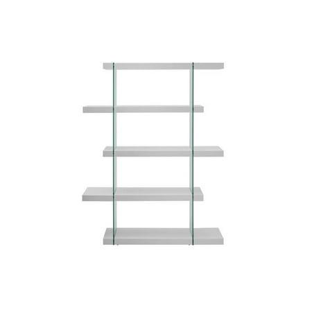 Il Vetro Glass Bookcase, White Lacquer - 71 x 55 x 13 in.