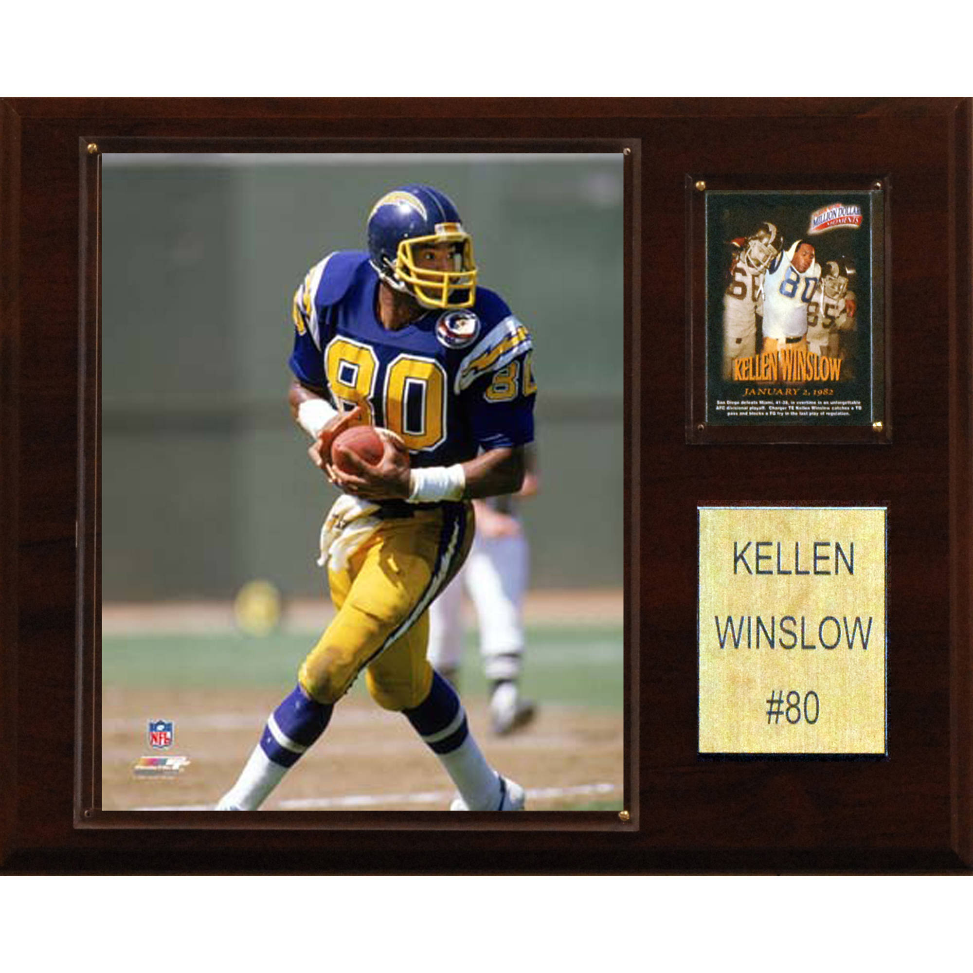 C&I Collectables NFL 12x15 Kellen Winslow San Diego Chargers Player Plaque