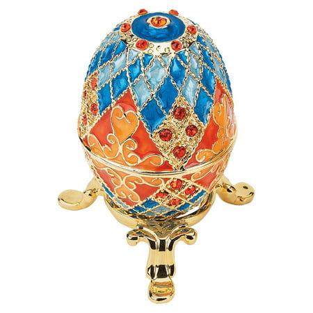 Design Toscano Grand Duchess Collection Romanov Style Enameled Egg: Georgievna