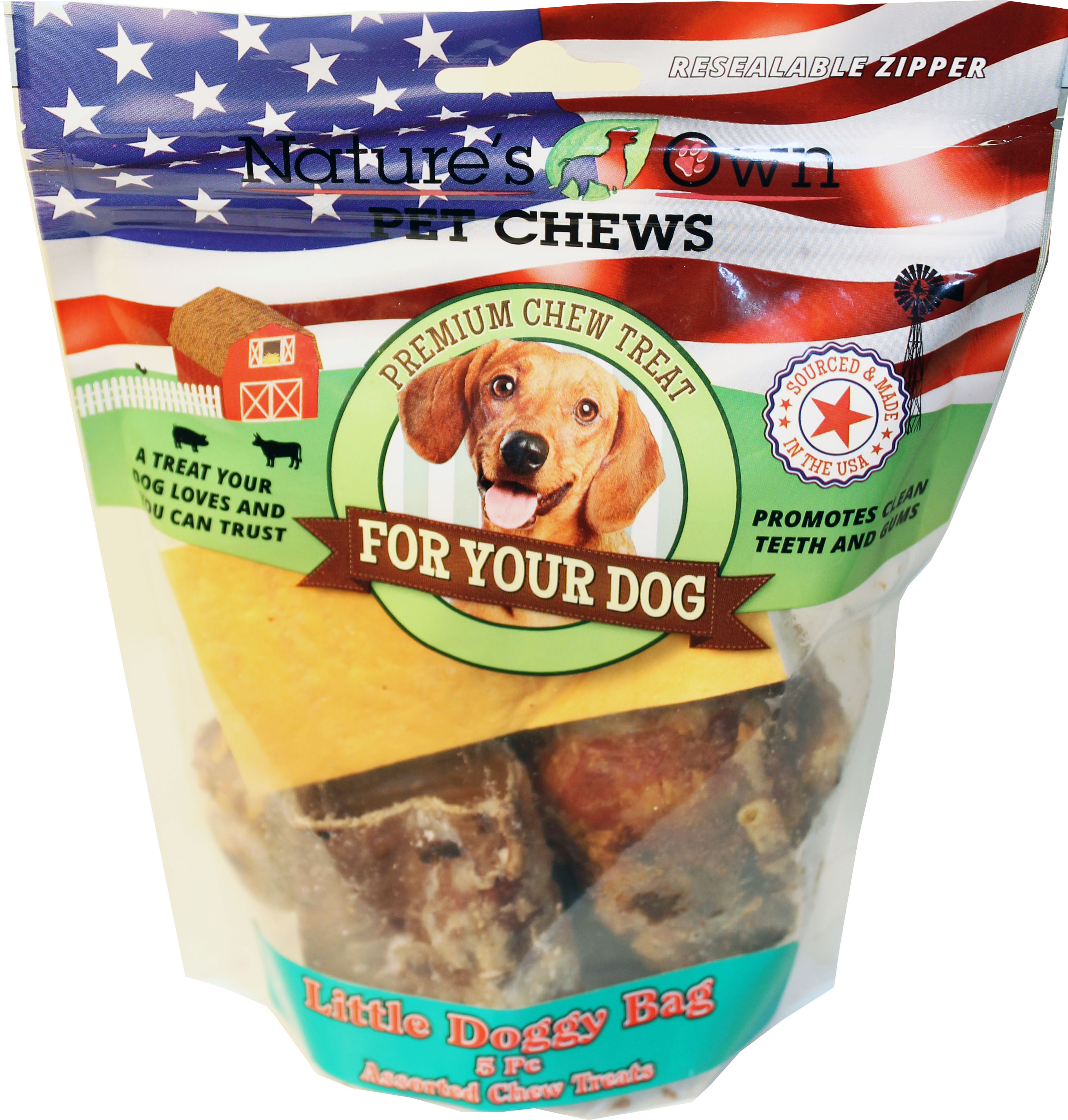 USA LITTLE DOGGY BAG NATURAL CHEW TREATS