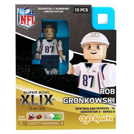 Super Bowl Xlix 2015 Nfl Oyo Sports Mini Figure  Rob Gronkowski
