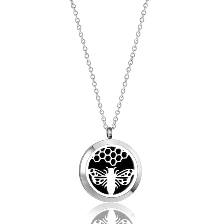 Anavia Honeycomb Aromatherapy Jewelry Essential Oil Necklace With Gift Box