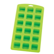 HIC Silicone Ice Cube, Chocolate, Candy, Baking and Craft Mold, Non-Stick Heat-Resistant Fun Novelty Shapes, 18 Square Holes, 9 by 4.5-Inches