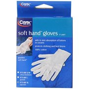 Carex Health Brands Soft Hands Cotton Gloves, XL
