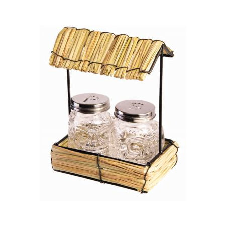 STRAW HUT W/SALT/PEPPER