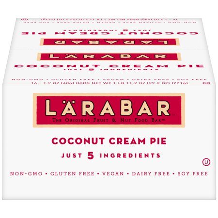 Larabar Apple Pie - Larabar Gluten Free Bars, Coconut Cream Pie, 1.7 oz Bars (16 Count)