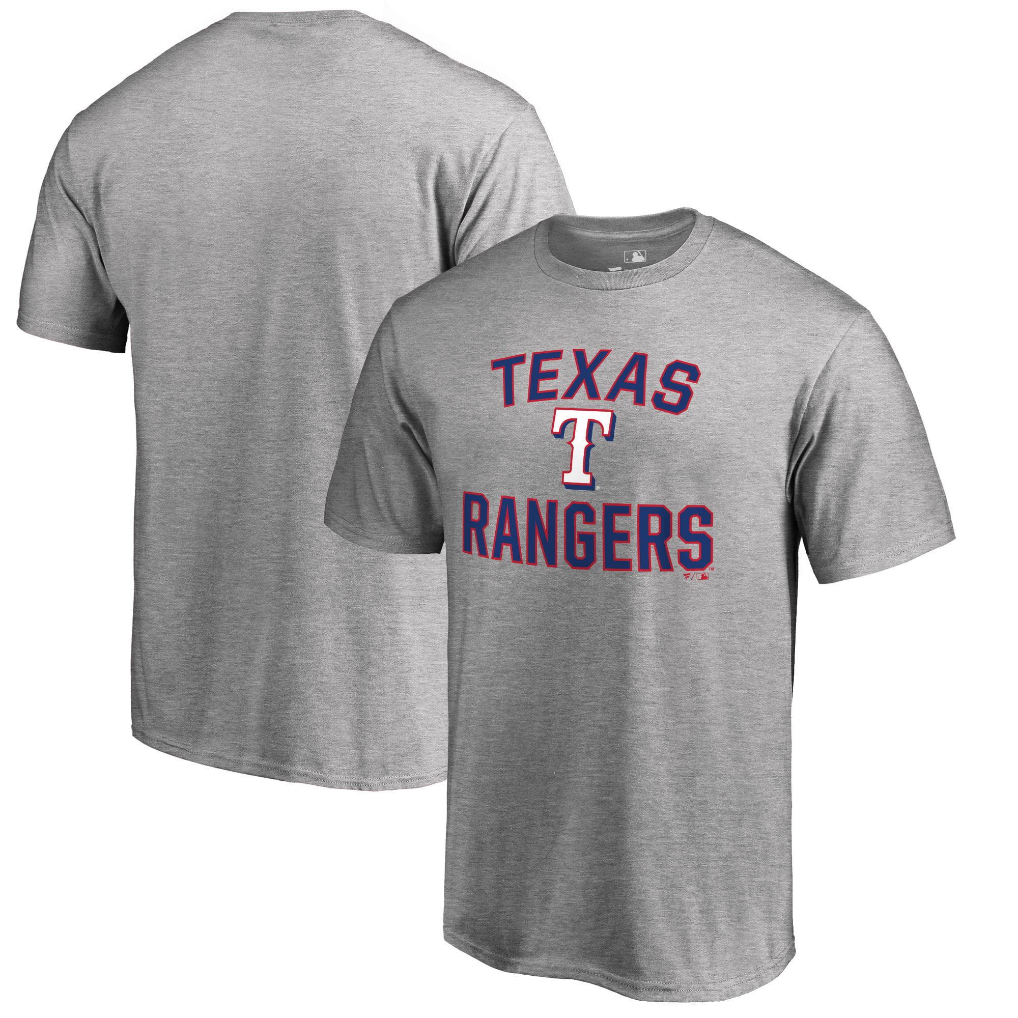 Texas Rangers Fanatics Branded Victory Arch T-Shirt - Heathered Gray