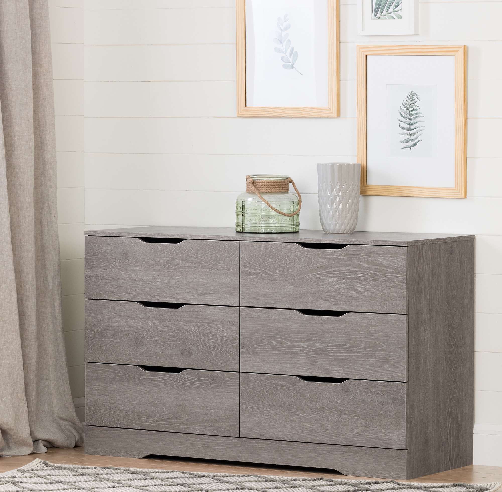 South Shore Holland 6-Drawer Double Dresser, Multiple Finishes by South Shore
