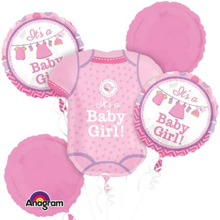 It's a Baby Girl Shirt Shower Theme Foil Balloon (Baby Girl Balloon Bouquet)