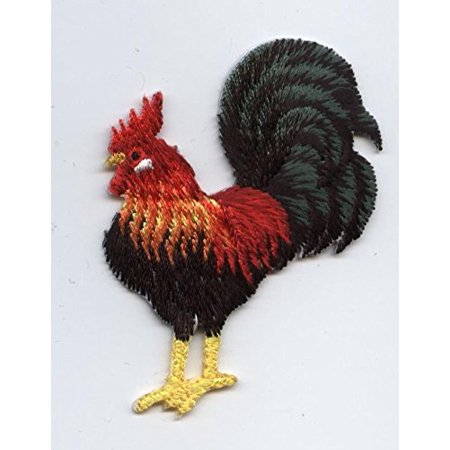 Rooster - Rhode Island Red Chicken -  Iron on Applique/Embroidered Patch ()