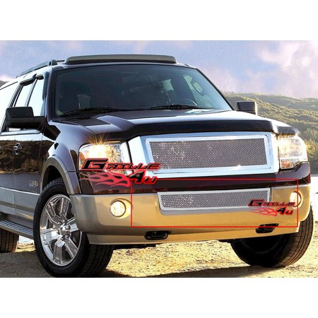 Fits 2007-2014 Ford Expedition Bumper Stainless Steel Mesh Grille Grill Insert # - Ford Expedition Grillcraft Grille