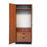 Hausmann 8255 StoreWall Storage System-Cabinet-Natural Oak