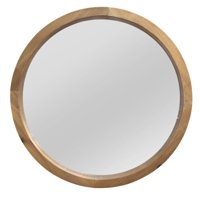 """Natural Wood Round Wall Mirror 20"""" by Stratton Home Decor"""