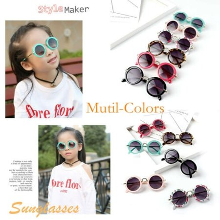 Powerpuff Girls Glasses (Kids ANTI-UV Glasses Candy Colors Boys Girls Children Round Sunglasses)
