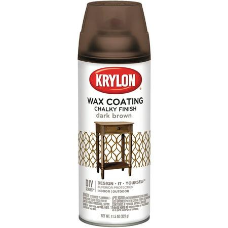 Chalky Finish Aerosol Spray Paint 12oz-Dark Brown Wax