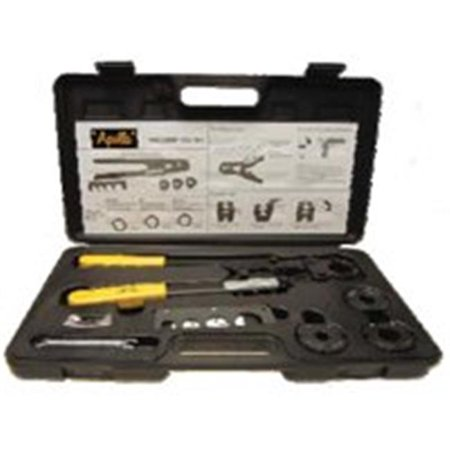 Apollo Valves 69PTKH0015K Multi-Head Pex Crimp Tool Kit, 3/8 - 1 in