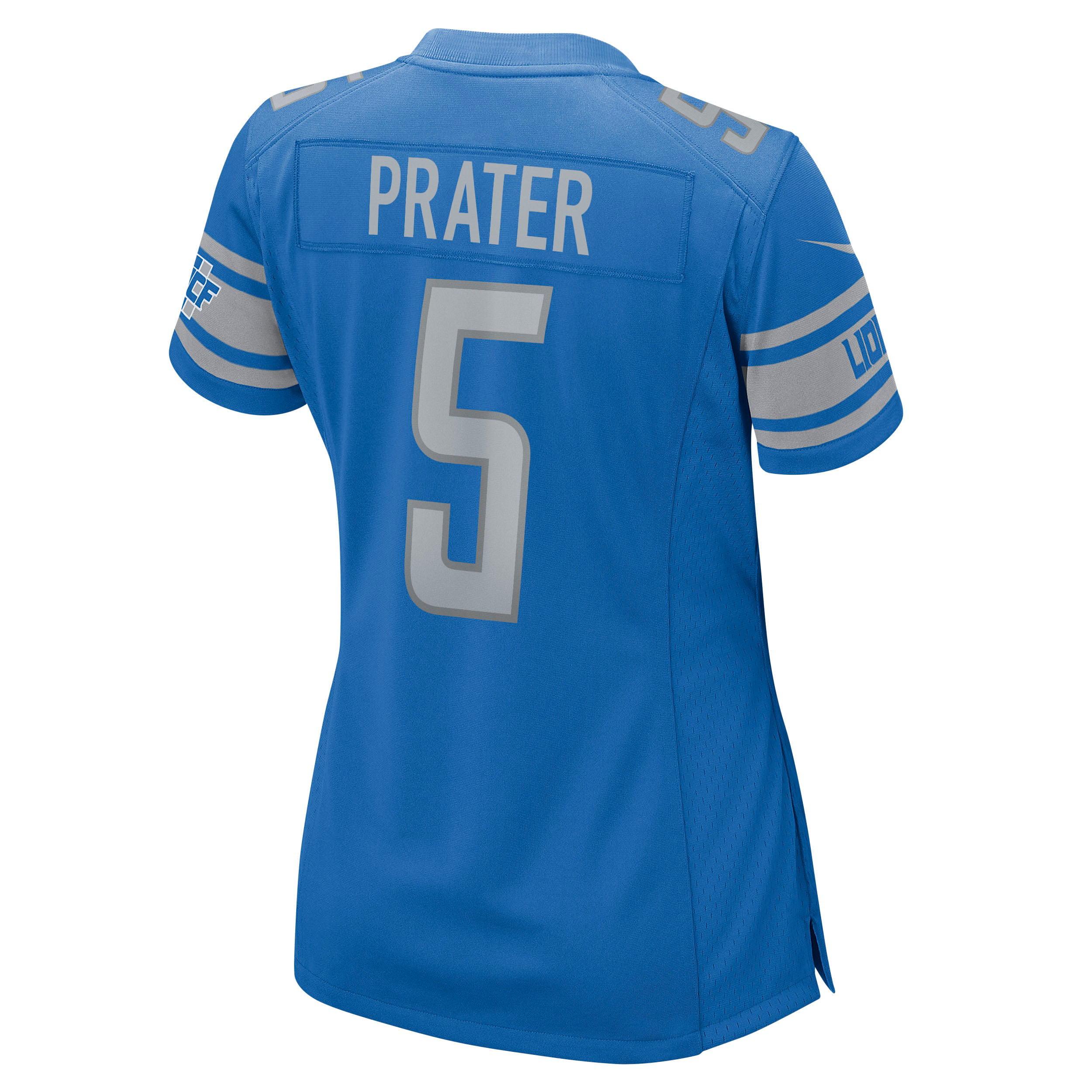 Matt Prater Detroit Lions Nike Women's Game Jersey - Blue