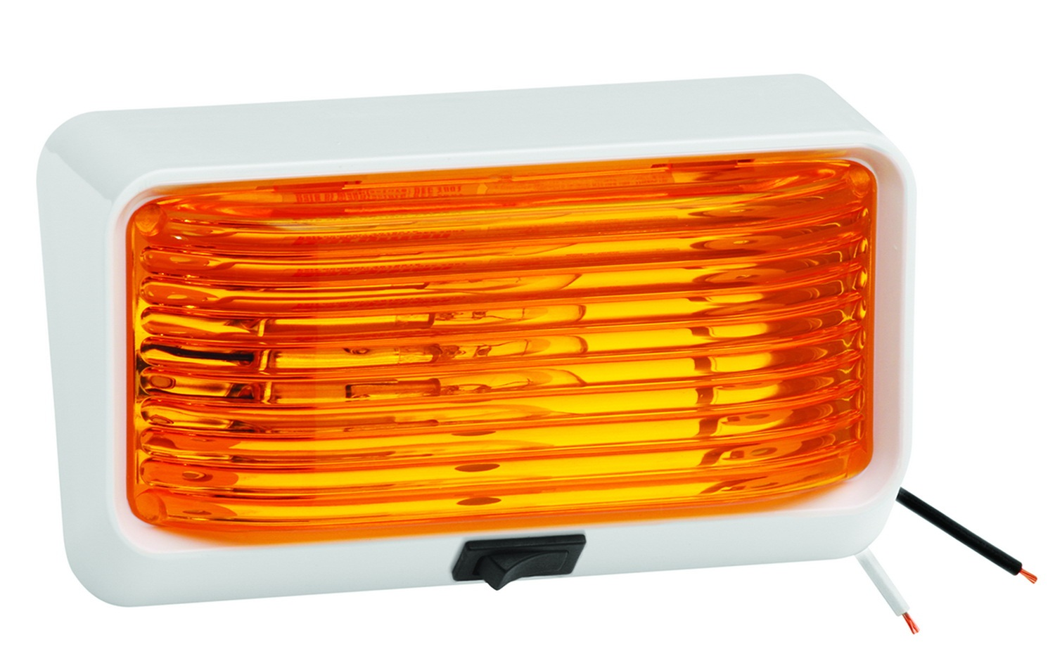Bargman 30-78-518 Porch Light Lens; For 78 Series; Amber; w Ash White; 5 Base; Switch; by Bargman
