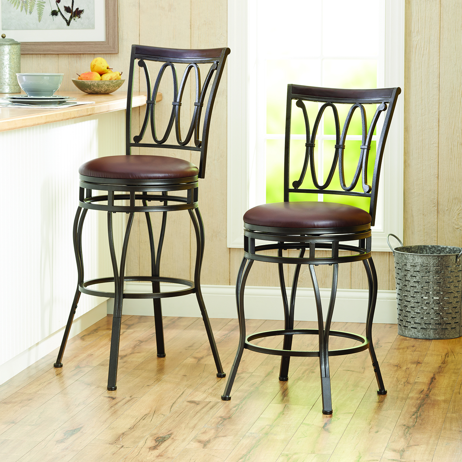 Better Homes and Gardens Adjustable Barstool Oil Rubbed Bronze Image 2 of 4 & Better Homes and Gardens Adjustable Barstool Oil Rubbed Bronze ... islam-shia.org