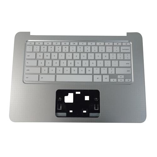 Genuine HP Chromebook 14-AK Silver Palmrest w/ US Keyboard 830878-001