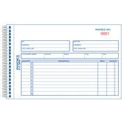 Rediform-Blueline 7L721S Carbonless Duplicate Invoice Book - 5-0.5 x 7-0.87 in.