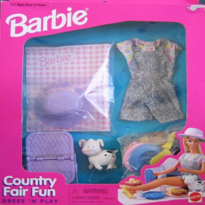 COUNTRY FAIR FUN Dress 'N Play FASHIONS & Accessories Playset (1996 Arcotoys, Mattel)