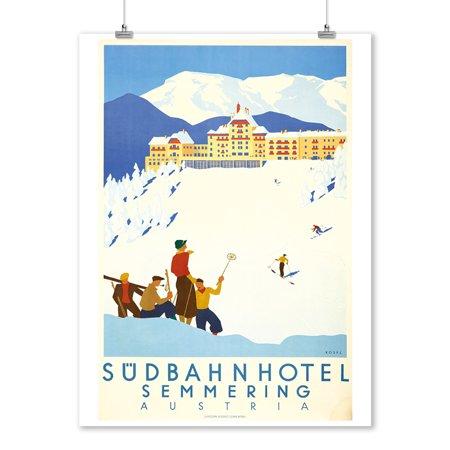Sudbahn Hotel Vintage Poster (artist: Hermann Kosel) Austria c. 1931 (9x12 Art Print, Wall Decor Travel Poster)