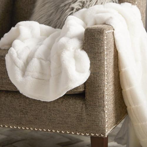 BOON Throw & Blanket Luxury Rabbit Faux Fur Throw