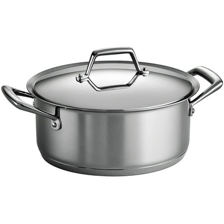 Tramontina Gourmet Prima 6 Quart Covered Sauce Pot With Tri Ply Base