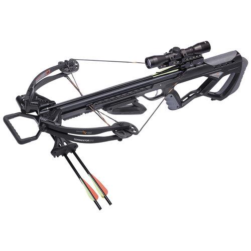 Centerpoint Tormentor 370 Crossbow Bundle, Black