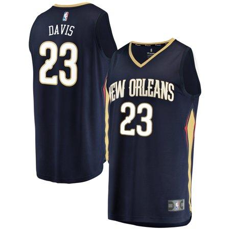 Anthony Davis New Orleans Pelicans Fanatics Branded Fast Break Replica Jersey Navy - Icon