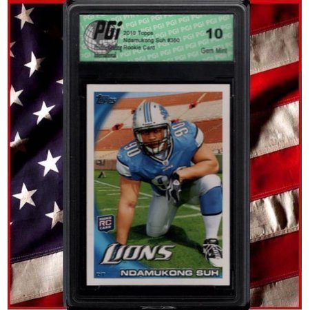 Ndamukong Suh LIONS #1 2010 TOPPS Rookie Card PGI (1 Pgi 9pbk Photo)