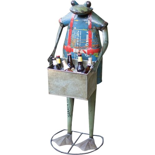 August Grove Morua Recycled Metal Standing Frog Beverage Tub
