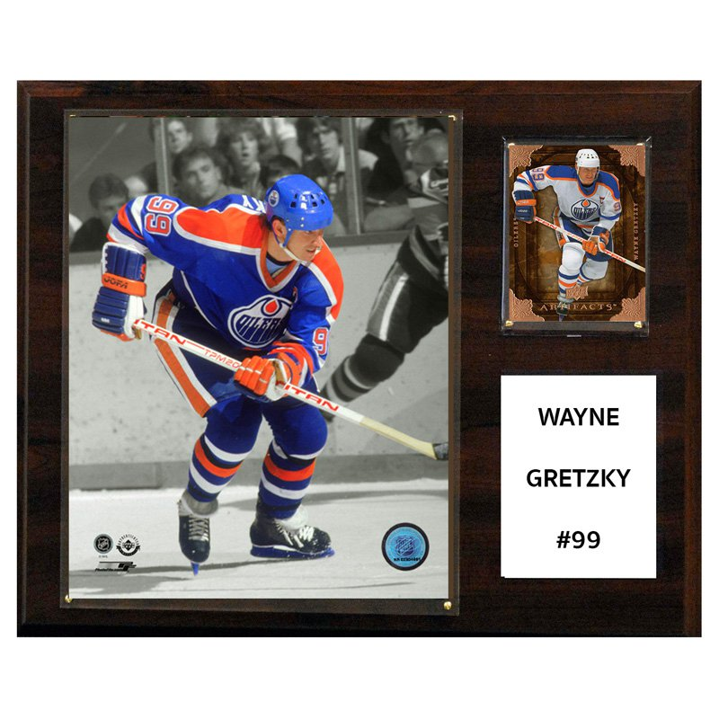 C&I Collectables NHL 12x15 Wayne Gretzky Edmonton Oilers Player Plaque