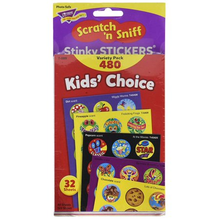 Kids Choice Variety Pack - Kids' Choice Stinky Stickers Variety Pack, Everyone's favorite for decades, Stinky Stickers are fun to collect, or use to motivate and reward. By Trend Enterprises Inc