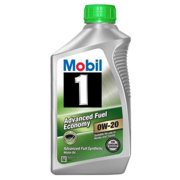 (6 pack) Mobil 1 0W-20 Advanced Fuel Economy Full Synthetic Motor Oil 1 qt.