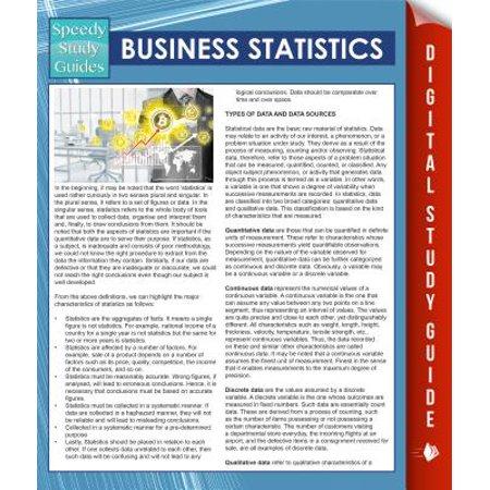 Business Statistics (Speedy Study Guides) - eBook - Halloween Business Statistics