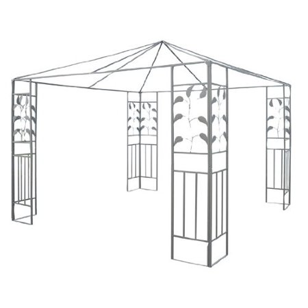 10ft x 10ft Steel Gazebo Frame - Leaf Design ()