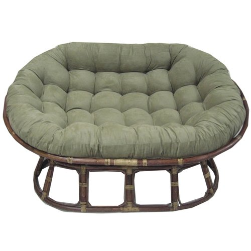 Superbe International Caravan Rattan Double Papasan Chair With Micro Suede Cushion    Walmart.com