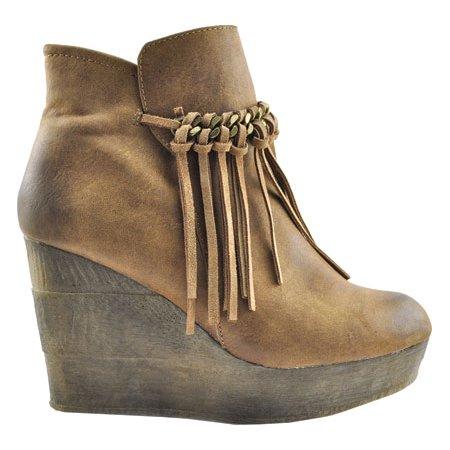 8470dcccab6 Sbicca - Women s Zepp Platform Wedge Bootie - Walmart.com