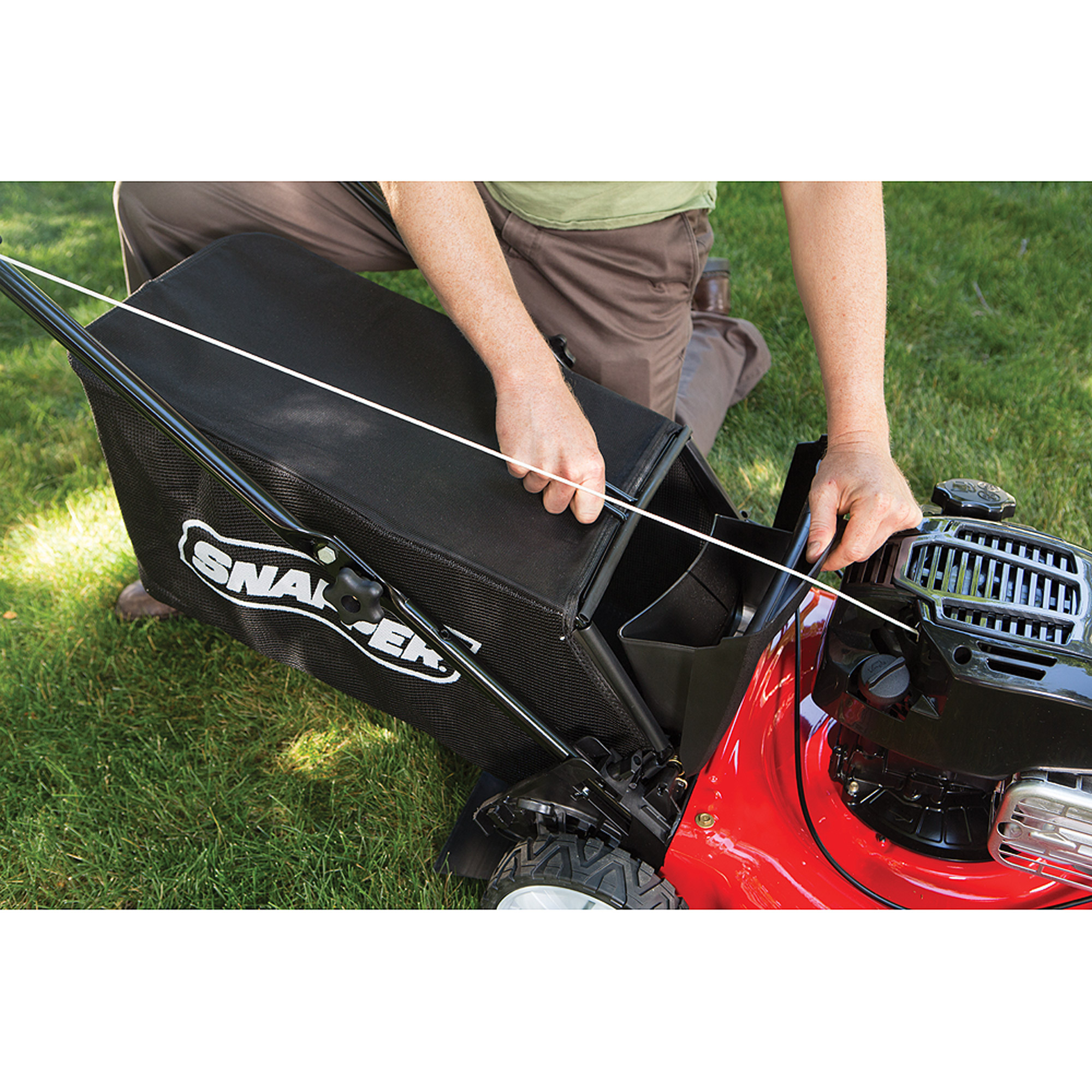 Sner 21 Self Propelled Gas Mower With Side Discharge Mulching Rear Bag