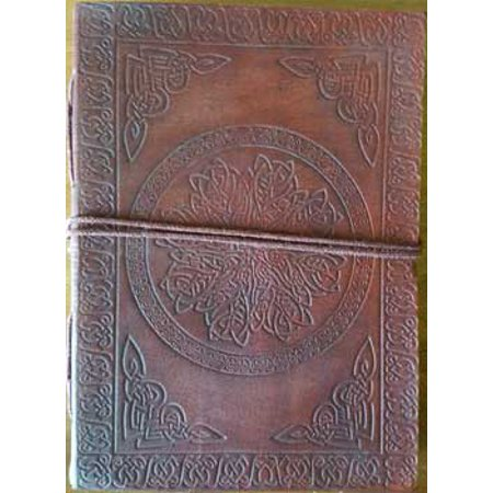 Celtic Mandala Embossed Leather Writing Creative Journal Diary Dream Notebook Wrapping Cord Closure 200 Pages Handmade Paper 5