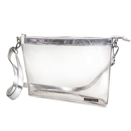 Clear PVC Stadium and Security Approved Travel Tote/Bag (Crossbody 10